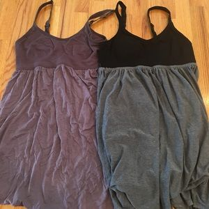 2 Target night gowns size large grey and plum